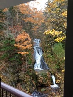 豊平峡ダムの滝